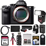 Sony Alpha A7S II 4K Wi-Fi Digital Camera Body with 64GB Card + Backpack + Flash + Battery & Charger + Tripod + Remote + Kit