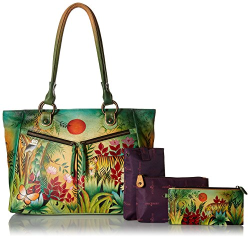 Anuschka Large Shopper with Front Pocketsrousseau's Jungle, Rsj/Rousseau's Jungle by ANUSCHKA (Image #6)