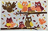 Happy Owls Printed Accent Rug 20