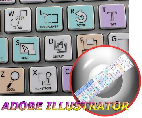 ADOBE ILLUSTRATOR GALAXY SERIES STICKERS FOR KEYBOARD APPLE SIZE