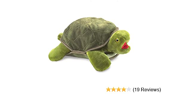 78ec7d2e06 Amazon.com  Folkmanis Turtle Plush Hand Puppet  Toys   Games