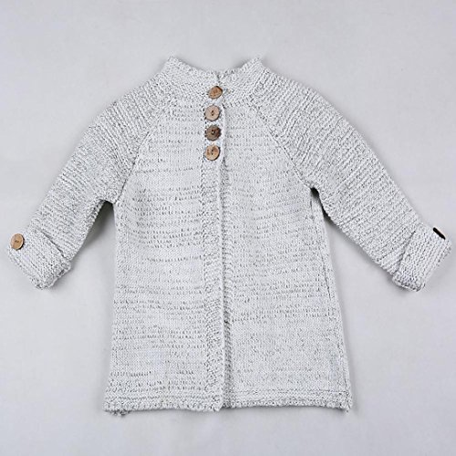 ZLOLIA Baby Clothes Set Autumn Winter Toddler Girls Coat Tops Cardigan Solid Outfit Button Knitted Sweater For 2-8 Year Kids (90, Beige) by ZLOLIA (Image #5)