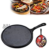 Cheap 10″ Heavy Duty Comal Pre seasoned Nonstick Tortilla Pan Griddle Cast Iron Grill