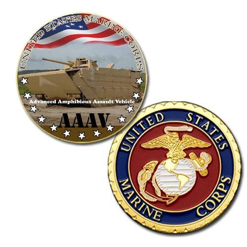 USMC Advanced Amphibious Assault Vehicle aaav Printed Coin