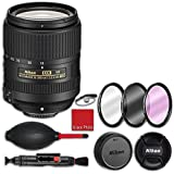 Nikon AF-S DX NIKKOR 18-300mm f/3.5-6.3G ED VR Lens with 3 piece filter kit (UV, CPL, FLD), Rubber air dust blower, Lens cleaning pen