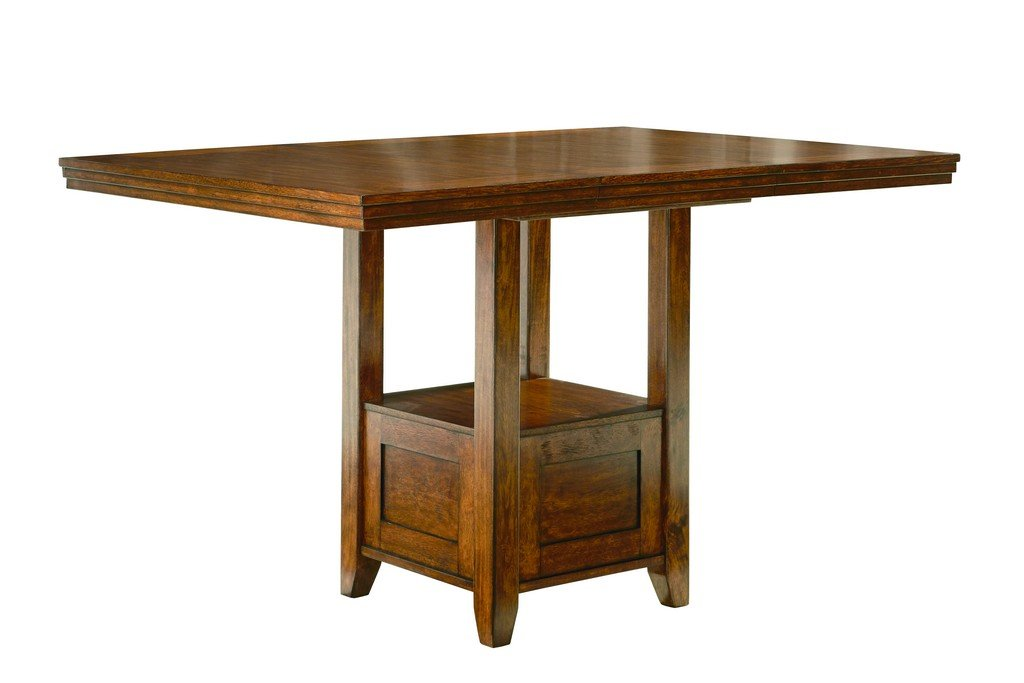 Ashley Furniture Signature Design - Ralene Counter Height Dining Room Table - Burnished - Medium Brown