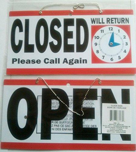 1 Set Leading Popular Open Closed Hanging Sign Door Adhesive Plastic Vinyl Announcement Size 6