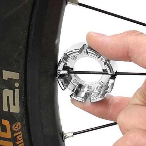 Ownsig 8 Way Spoke Nipple Key Wheel Rim Wrench Spanner Repair Tool Sporting Goods for Bicycle Bike