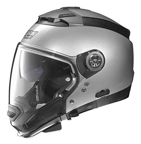 - Nolan Unisex Adult N44 EVO Platinum Silver Modular Helmet NE45270330015