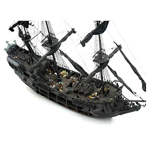 ZUINIUBI Ship Model to Build Pirate Full Scene Black Pearl Sailing Ship Boats Model Kit DIY Crafts