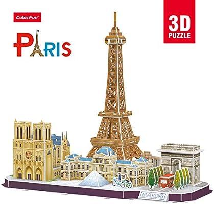 Cubic Fun- Puzzle 3D de la Ciudad de París en Línea (771MC254): Amazon.es: Juguetes y juegos
