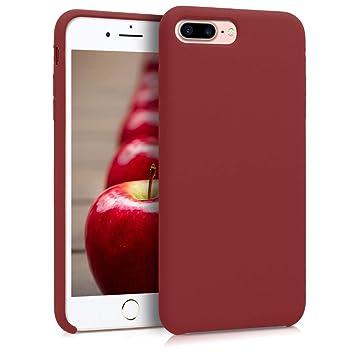 kwmobile Funda para Apple iPhone 7 Plus / 8 Plus - Carcasa de [TPU] para teléfono móvil - Cover [Trasero] en [Rojo Oscuro]