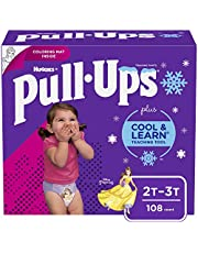 Girls Potty Training Underwear, 2T-3T, Pull-Ups Cool & Learn for Toddlers, 108ct, One Month Supply