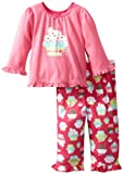 Little Me Baby Girls' Cupcake 2 Piece Pajama