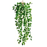 BESTOMZ Artificial Fake Scindapsus Leaves Greenery Ivy Vine Plants for Home Decor Indoor Outdoor (Scindapsus Leaves)