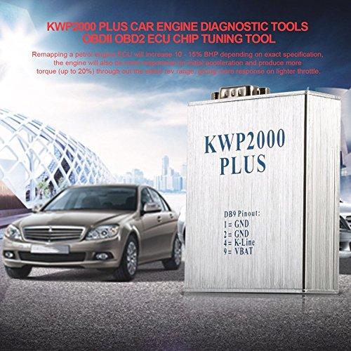 Lovelysunshiny KWP2000 Plus - Herramienta de diagnóstico para Motor de Coche OBDII OBD2 ECU: Amazon.es: Coche y moto