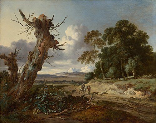 ['Jan Wijnants A Landscape With Two Dead Trees ' Oil Painting, 30 X 38 Inch / 76 X 97 Cm ,printed On Polyster Canvas ,this Replica Art DecorativeCanvas Prints Is Perfectly Suitalbe For Wall Art Artwork And Home Artwork And Gifts] (Grease Jan Wig)
