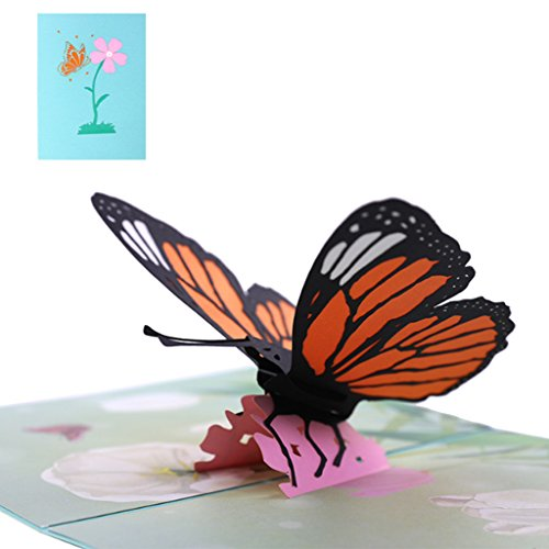Feamos 3D Pop up Card Butterfly Greeting Cards for Christmas Halloween Birthday Wedding Invitation Gift for $<!--$5.94-->