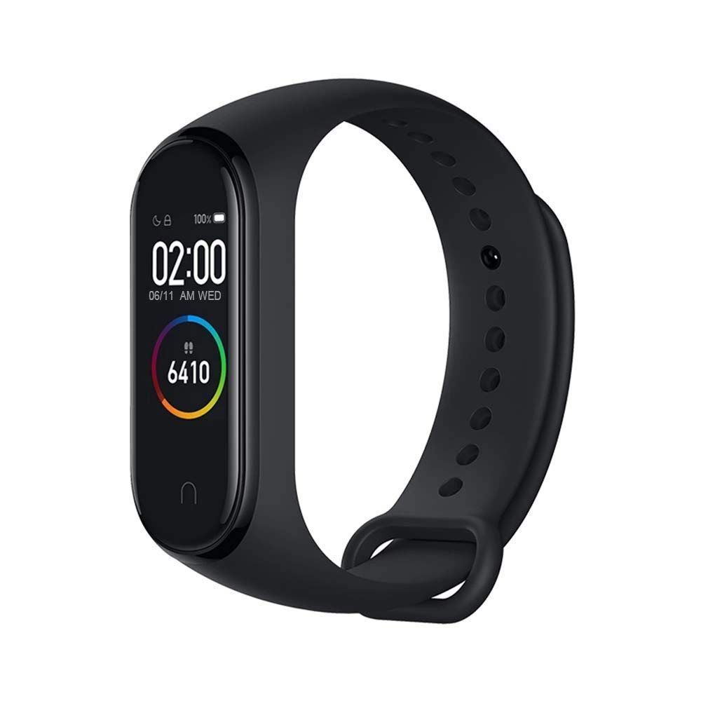 Xiaomi Mi Band 4 Fitness Tracker, 0.95 Inches, Colour, AMOLED Display, Heart Rate Monitor, 50 Metres, Activity Tracker, Waterproof Smart Bracelet, 2019 Model, Black, 21.6 mm