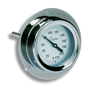 Well-Being-Matters 512Gc1-0%2BKL._SS300_ COOPER - 118741 Cooper-Atkins 2225-02-5 Stainless Steel Bi-Metals Industrial Flange Mount Thermometer, 0 to 220 Degrees…