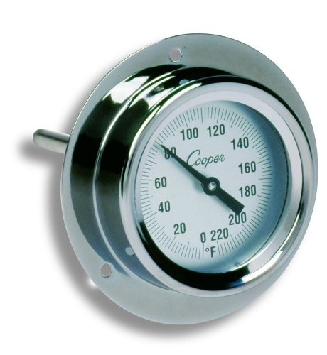 Cooper-Atkins-2225-02-5-Stainless-Steel-Bi-Metals-Industrial-Flange-Mount-Thermometer-0-to-220-degrees-F-Temperature-Range