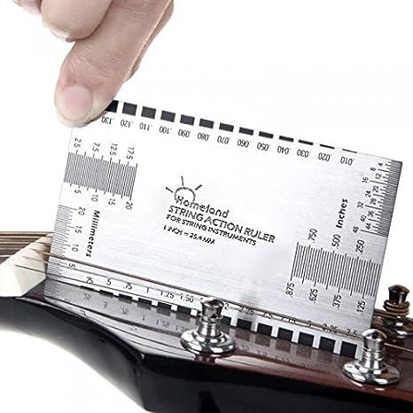 Andoer String Action Ruler Gauge Tool for Guitar Bass I220-L