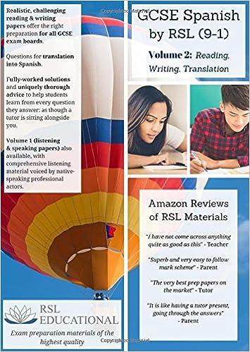 GCSE Spanish by RSL, Volume 2: Reading, Writing, Translating (9-1