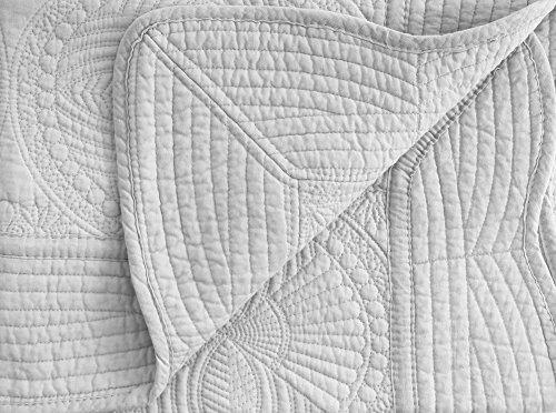 (Verabella Newborn Quilt Baby Soft Blanket Reversible Crib Quit Blanket, Grey)