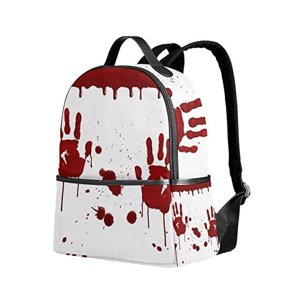 Halloween Handprint zaino spaventoso per donne adolescenti ragazze borsa moda borsa libreria bambini viaggio università… 1 spesavip