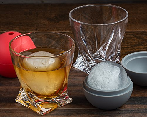 The-Rocks-Cocktail-Glass-Set-with-Ice-Sphere-Molds-by-The-Elan-Collective