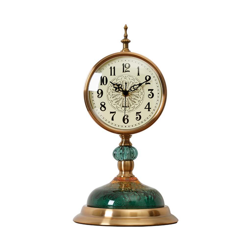 デスククロックファミリークロックヨーロッパ時計ミュート時計テーブルデコレーションリビングルームのベッドルームリビングルームのベッドルームに適していますオフィス(色:絵の色) B07TD82TSV Picture Color