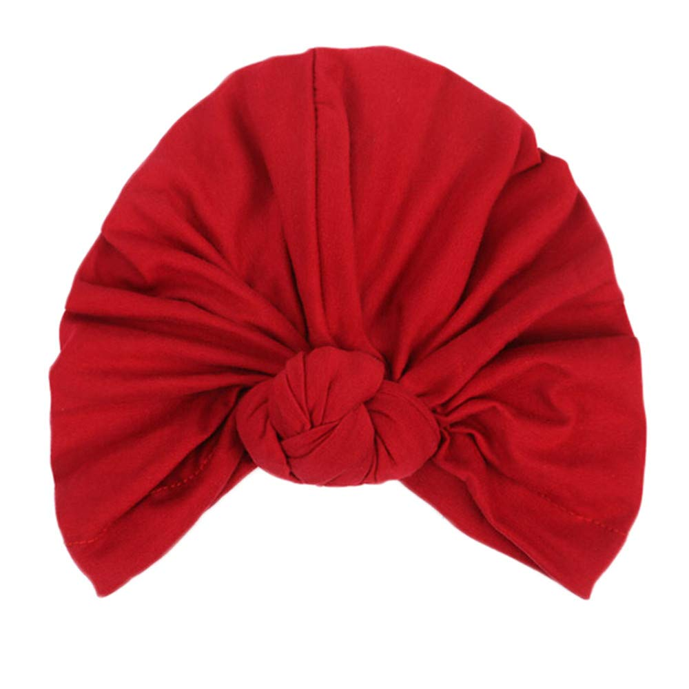 Women's Knotted Turban Hat Hair Loss Head Wrap Cap Chemo Cap Cancer Cap Fashion Slouchy Hats for Women Wine