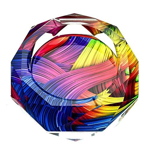DGF Cenicero de cristal, Cenicero europeo de la personalidad del hotel casero creativo (10 cm, 12 cm, 15 cm, 18 cm, 20 cm, 25...