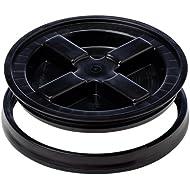 The Gamma Seal Lid, Black, 40 lbs (FITS A 3.5-7 GAL. BUCKET)