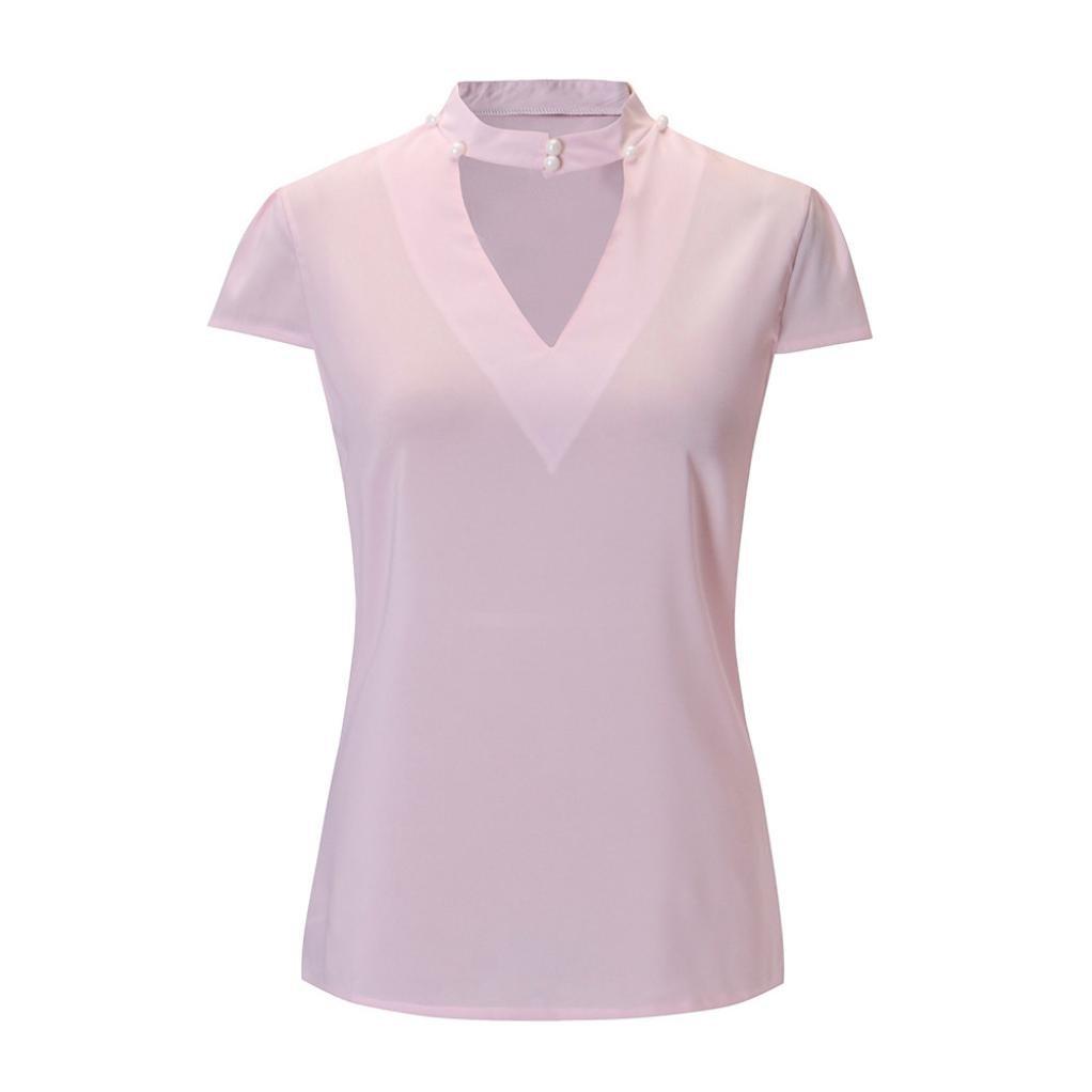 T Shirt Donna Vintage Elegante Pizzo Homebaby/® Manica Corta Magliette Donna Chiffon Sciolto Top Tumblr Estiva Particolari Magliette Corte Cotone Tumblr T-Shirt Donna Casual