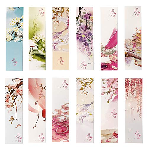 (Colorful Flower Bookmarks for Women Kids Girls,30PCs )