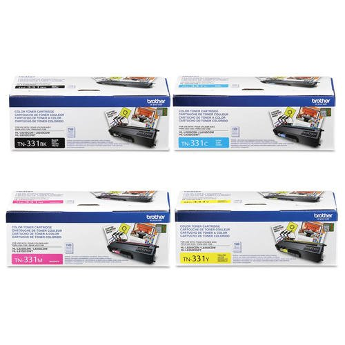 Reseller TN331 Black, Cyan, Magenta and Yellow Complete Toner Cartridge Set