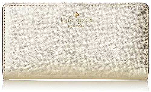 kate spade new york Cedar Street Stacy Bifold, Gold, One Size by Kate Spade New York
