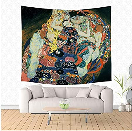 HYDDAXJW Gustav Klimt Pintura Tapiz Hippie Hogar Decorativo ...