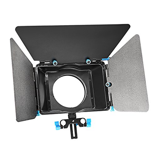 Filter Dv Box Matte - Neewer Aluminum Alloy Matte Box with Donut Ring,Fit 15mm Rail Rod Rig,for Nikon Canon Sony Fujifilm Olympus DSLR Camera Camcorder DV/HDV/Broadcast Video Movie Film Making System