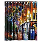 """Hertanercase Colorful Doctor Who Custom 100% Polyester Shower Curtain 60"""" x 72"""""""