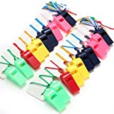 2X Plastic Whistle With Lanyard For School Outdoor Sports Training Random Color