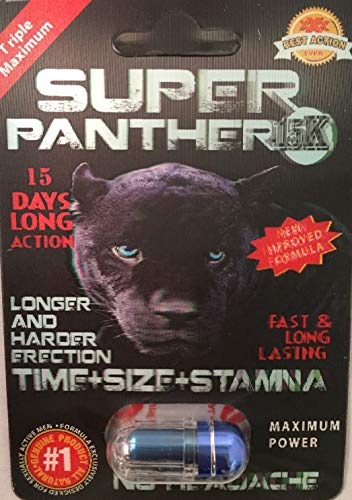 Super Panther 29k (Pack of 6) Male Performance Enhancement Sex Pill (Male Enhancement Performance Pill)