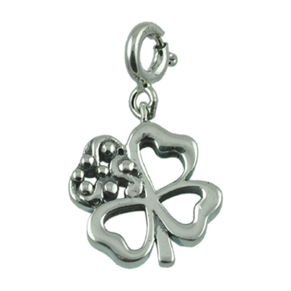 Fourseven Charm In 925 Sterling Silver Good Luck Clover Charm Unisex Gift For Himher