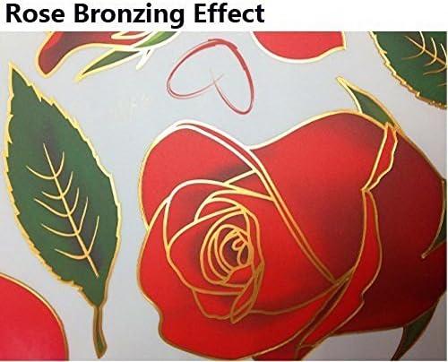 De Sssc Dekoration Romantische Rote Rosen Blumen Wand Abziehbilder Wohnzimmer Schlafzimmer Entfernbare Wand Aufkleber Bilder Rose 1 Küche Haushalt