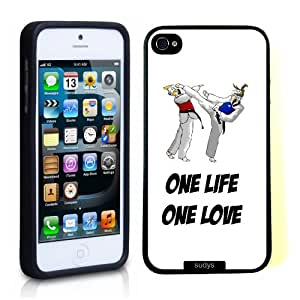 SudysAccessories Taekwondo One Life One Love Thinshell Protective Plastic iPhone 5 iPhone 5S Case