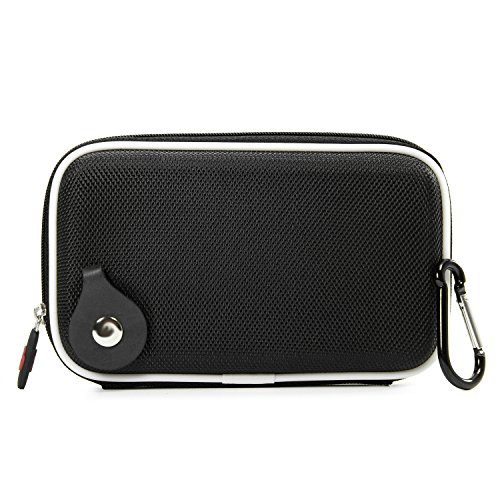 Travel Vape Case compatible with G Pen Herbal Vaporizer Grenco Snoop Dogg |SLIM BLACK NYLON SEMI-HARD SHELL| + Carabiner Hook for Easy Attachment