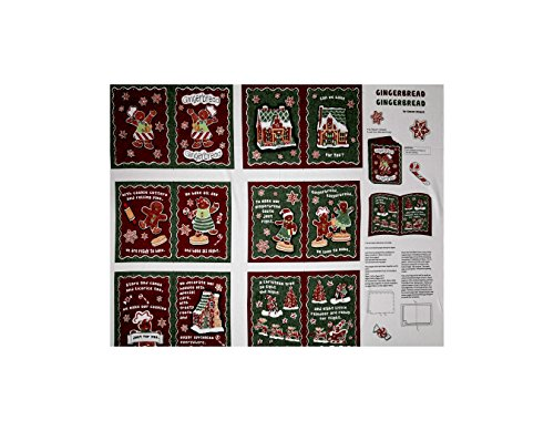 Susan Winget Gingerbread Soft Book 36 In. Panel Multi Fabric By The Yard (Panel Fabric By The Yard compare prices)
