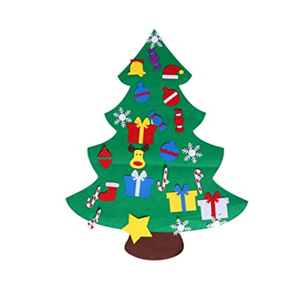 Felt Christmas Tree Pattern.Amazon Com Vorcool Diy Felt Christmas Tree Kids Xmas Gifts