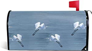 """Mailbox Covers Standard Size Magnetic Mail Cover Eureka Egrets Wraps Letter Post Box Cover 21"""" Lx 18"""" W"""